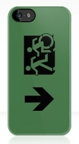 Accessible Exit Sign Project Wheelchair Wheelie Running Man Symbol Means of Egress Icon Disability Emergency Evacuation Fire Safety iPhone Case 68