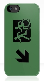 Accessible Exit Sign Project Wheelchair Wheelie Running Man Symbol Means of Egress Icon Disability Emergency Evacuation Fire Safety iPhone Case 69