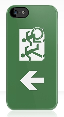 Accessible Exit Sign Project Wheelchair Wheelie Running Man Symbol Means of Egress Icon Disability Emergency Evacuation Fire Safety iPhone Case 7