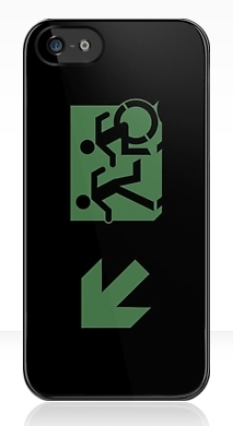 Accessible Exit Sign Project Wheelchair Wheelie Running Man Symbol Means of Egress Icon Disability Emergency Evacuation Fire Safety iPhone Case 71