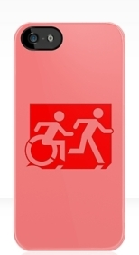 Accessible Exit Sign Project Wheelchair Wheelie Running Man Symbol Means of Egress Icon Disability Emergency Evacuation Fire Safety iPhone Case 72