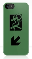 Accessible Exit Sign Project Wheelchair Wheelie Running Man Symbol Means of Egress Icon Disability Emergency Evacuation Fire Safety iPhone Case 73