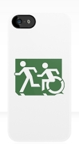 Accessible Exit Sign Project Wheelchair Wheelie Running Man Symbol Means of Egress Icon Disability Emergency Evacuation Fire Safety iPhone Case 76