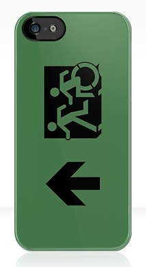 Accessible Exit Sign Project Wheelchair Wheelie Running Man Symbol Means of Egress Icon Disability Emergency Evacuation Fire Safety iPhone Case 77