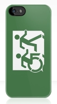 Accessible Exit Sign Project Wheelchair Wheelie Running Man Symbol Means of Egress Icon Disability Emergency Evacuation Fire Safety iPhone Case 8