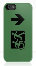 Accessible Exit Sign Project Wheelchair Wheelie Running Man Symbol Means of Egress Icon Disability Emergency Evacuation Fire Safety iPhone Case 81