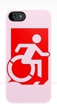 Accessible Exit Sign Project Wheelchair Wheelie Running Man Symbol Means of Egress Icon Disability Emergency Evacuation Fire Safety iPhone Case 82