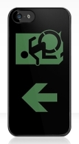 Accessible Exit Sign Project Wheelchair Wheelie Running Man Symbol Means of Egress Icon Disability Emergency Evacuation Fire Safety iPhone Case 85