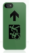 Accessible Exit Sign Project Wheelchair Wheelie Running Man Symbol Means of Egress Icon Disability Emergency Evacuation Fire Safety iPhone Case 87
