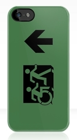 Accessible Exit Sign Project Wheelchair Wheelie Running Man Symbol Means of Egress Icon Disability Emergency Evacuation Fire Safety iPhone Case 88