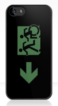 Accessible Exit Sign Project Wheelchair Wheelie Running Man Symbol Means of Egress Icon Disability Emergency Evacuation Fire Safety iPhone Case 90