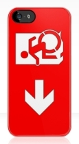 Accessible Exit Sign Project Wheelchair Wheelie Running Man Symbol Means of Egress Icon Disability Emergency Evacuation Fire Safety iPhone Case 9