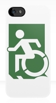 Accessible Exit Sign Project Wheelchair Wheelie Running Man Symbol Means of Egress Icon Disability Emergency Evacuation Fire Safety iPhone Case 92
