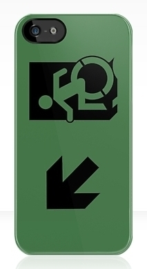 Accessible Exit Sign Project Wheelchair Wheelie Running Man Symbol Means of Egress Icon Disability Emergency Evacuation Fire Safety iPhone Case 94