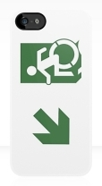 Accessible Exit Sign Project Wheelchair Wheelie Running Man Symbol Means of Egress Icon Disability Emergency Evacuation Fire Safety iPhone Case 97