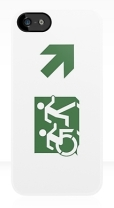 Accessible Exit Sign Project Wheelchair Wheelie Running Man Symbol Means of Egress Icon Disability Emergency Evacuation Fire Safety iPhone Case 98