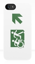 Accessible Exit Sign Project Wheelchair Wheelie Running Man Symbol Means of Egress Icon Disability Emergency Evacuation Fire Safety iPhone Case 99