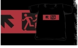 Accessible Exit Sign Project Wheelchair Wheelie Running Man Symbol Means of Egress Icon Disability Emergency Evacuation Fire Safety Kids T-shirt 104