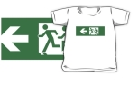Accessible Exit Sign Project Wheelchair Wheelie Running Man Symbol Means of Egress Icon Disability Emergency Evacuation Fire Safety Kids T-shirt 11