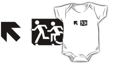 Accessible Exit Sign Project Wheelchair Wheelie Running Man Symbol Means of Egress Icon Disability Emergency Evacuation Fire Safety Kids T-shirt 112