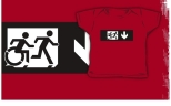 Accessible Exit Sign Project Wheelchair Wheelie Running Man Symbol Means of Egress Icon Disability Emergency Evacuation Fire Safety Kids T-shirt 113