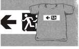 Accessible Exit Sign Project Wheelchair Wheelie Running Man Symbol Means of Egress Icon Disability Emergency Evacuation Fire Safety Kids T-shirt 114