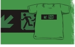 Accessible Exit Sign Project Wheelchair Wheelie Running Man Symbol Means of Egress Icon Disability Emergency Evacuation Fire Safety Kids T-shirt 115