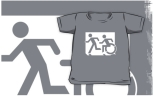 Accessible Exit Sign Project Wheelchair Wheelie Running Man Symbol Means of Egress Icon Disability Emergency Evacuation Fire Safety Kids T-shirt 117
