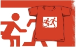 Accessible Exit Sign Project Wheelchair Wheelie Running Man Symbol Means of Egress Icon Disability Emergency Evacuation Fire Safety Kids T-shirt 122