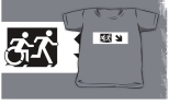 Accessible Exit Sign Project Wheelchair Wheelie Running Man Symbol Means of Egress Icon Disability Emergency Evacuation Fire Safety Kids T-shirt 126
