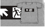 Accessible Exit Sign Project Wheelchair Wheelie Running Man Symbol Means of Egress Icon Disability Emergency Evacuation Fire Safety Kids T-shirt 127