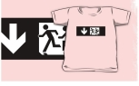 Accessible Exit Sign Project Wheelchair Wheelie Running Man Symbol Means of Egress Icon Disability Emergency Evacuation Fire Safety Kids T-shirt 133