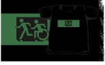 Accessible Exit Sign Project Wheelchair Wheelie Running Man Symbol Means of Egress Icon Disability Emergency Evacuation Fire Safety Kids T-shirt 138