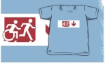 Accessible Exit Sign Project Wheelchair Wheelie Running Man Symbol Means of Egress Icon Disability Emergency Evacuation Fire Safety Kids T-shirt 151