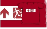Accessible Exit Sign Project Wheelchair Wheelie Running Man Symbol Means of Egress Icon Disability Emergency Evacuation Fire Safety Kids T-shirt 155