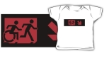 Accessible Exit Sign Project Wheelchair Wheelie Running Man Symbol Means of Egress Icon Disability Emergency Evacuation Fire Safety Kids T-shirt 167