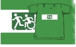 Accessible Exit Sign Project Wheelchair Wheelie Running Man Symbol Means of Egress Icon Disability Emergency Evacuation Fire Safety Kids T-shirt 168