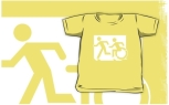 Accessible Exit Sign Project Wheelchair Wheelie Running Man Symbol Means of Egress Icon Disability Emergency Evacuation Fire Safety Kids T-shirt 171