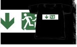 Accessible Exit Sign Project Wheelchair Wheelie Running Man Symbol Means of Egress Icon Disability Emergency Evacuation Fire Safety Kids T-shirt 173