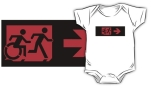 Accessible Exit Sign Project Wheelchair Wheelie Running Man Symbol Means of Egress Icon Disability Emergency Evacuation Fire Safety Kids T-shirt 174