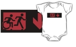 Accessible Exit Sign Project Wheelchair Wheelie Running Man Symbol Means of Egress Icon Disability Emergency Evacuation Fire Safety Kids T-shirt 178
