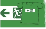Accessible Exit Sign Project Wheelchair Wheelie Running Man Symbol Means of Egress Icon Disability Emergency Evacuation Fire Safety Kids T-shirt 179
