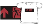 Accessible Exit Sign Project Wheelchair Wheelie Running Man Symbol Means of Egress Icon Disability Emergency Evacuation Fire Safety Kids T-shirt 182