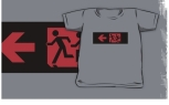 Accessible Exit Sign Project Wheelchair Wheelie Running Man Symbol Means of Egress Icon Disability Emergency Evacuation Fire Safety Kids T-shirt 184