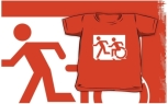 Accessible Exit Sign Project Wheelchair Wheelie Running Man Symbol Means of Egress Icon Disability Emergency Evacuation Fire Safety Kids T-shirt 194