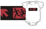 Accessible Exit Sign Project Wheelchair Wheelie Running Man Symbol Means of Egress Icon Disability Emergency Evacuation Fire Safety Kids T-shirt 206