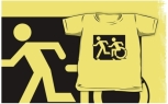 Accessible Exit Sign Project Wheelchair Wheelie Running Man Symbol Means of Egress Icon Disability Emergency Evacuation Fire Safety Kids T-shirt 208