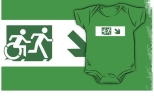 Accessible Exit Sign Project Wheelchair Wheelie Running Man Symbol Means of Egress Icon Disability Emergency Evacuation Fire Safety Kids T-shirt 210
