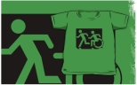 Accessible Exit Sign Project Wheelchair Wheelie Running Man Symbol Means of Egress Icon Disability Emergency Evacuation Fire Safety Kids T-shirt 211