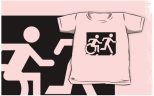 Accessible Exit Sign Project Wheelchair Wheelie Running Man Symbol Means of Egress Icon Disability Emergency Evacuation Fire Safety Kids T-shirt 217